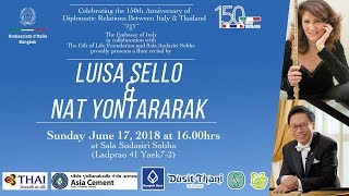 Flute Concert by Luisa Sello (Italy) & Nat Yontararak (Thailand)