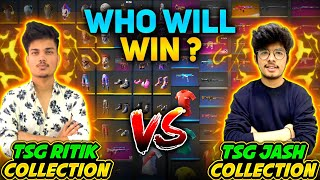 FREEFIRE || OFFICIAL COLLECTION VERSUS OF TSG RITIK & TSG JASH || RARE BUNDLES & ELITES #FREEFIRE