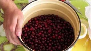 видео варенье из вишни с косточками
