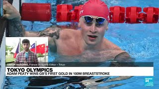 Britain's Adam Peaty wins 100m breaststroke gold to defend Olympic title • FRANCE 24 English