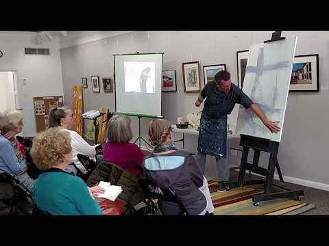 Society Of Western Artists Presents James Gleeson, Abstract Portrait Painting Demonstration