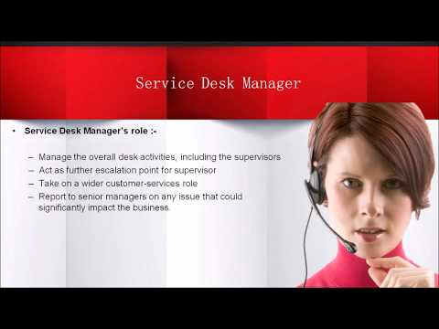 ITIL Service Operation Functions - Service Desk (2018)