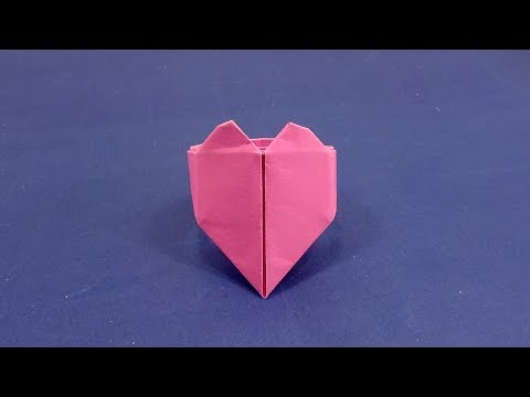 How To Make a Origami Heart Ring Easy Instructions in English - Diy Heart Ring Making Tutorial