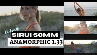 Sirui 50 mm1.8 Anamorphic 1.33 4k Footage!!!