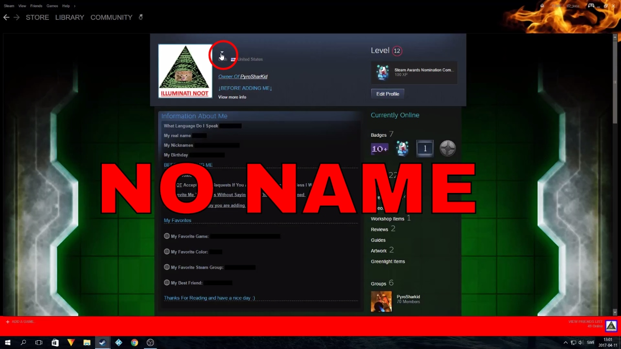 How To Have An Invisible Name On Steam Check Description Youtube
