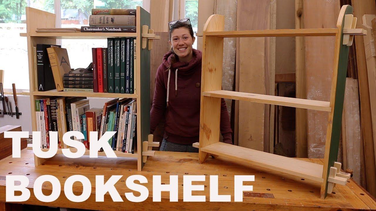 Learn Basic Woodworking Joinery Bookshelf Build Youtube