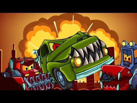 Мультфильм машины едят машин