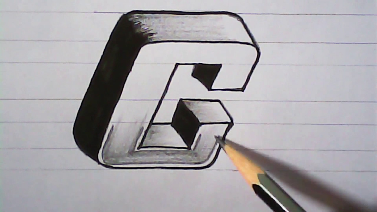 How To Draw 3D Letter C