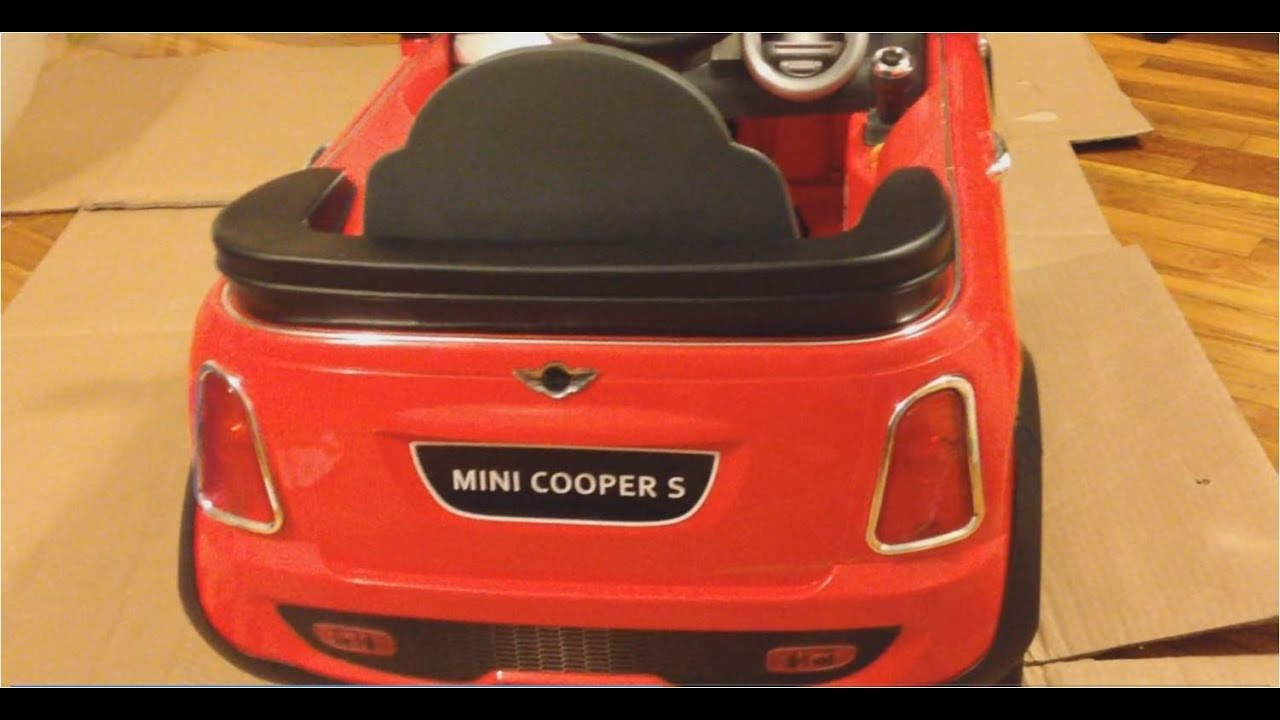 mini cooper s 6v power wheel kidtrax review watch before you buy  [ 1280 x 720 Pixel ]