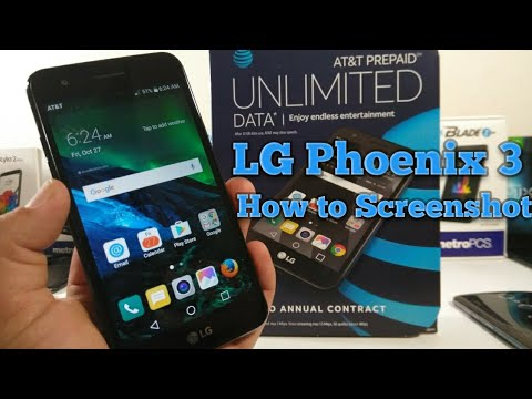 LG Phoenix 3 How to ScreenShot two different ways