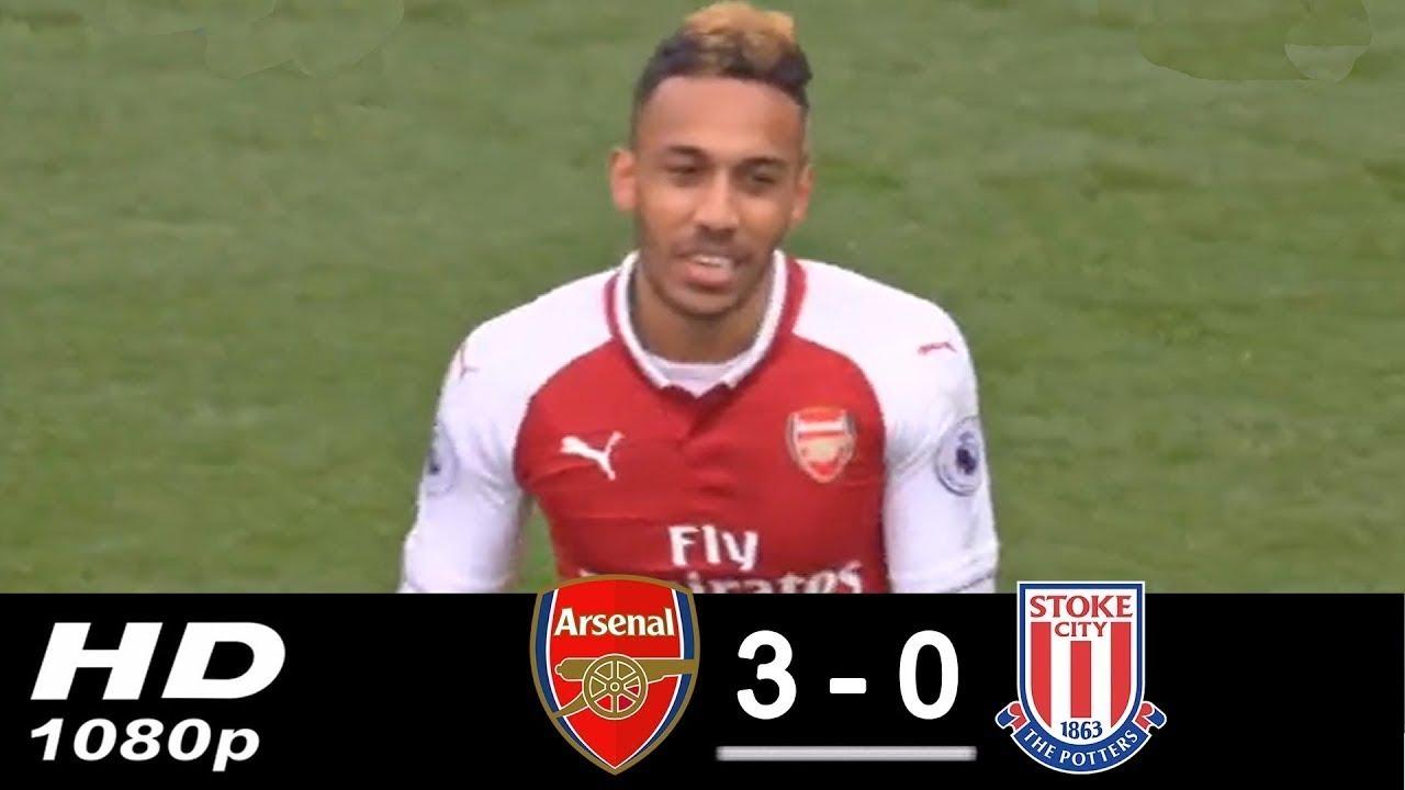 Download Arsenal vs Stoke City 3-0 • All Goals & Highlights • Aubameyang scored 2 goals • 2018 HD