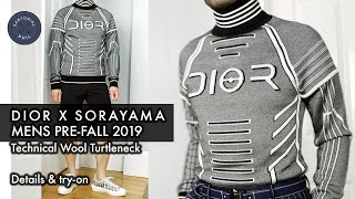 dior x Sorayama Men's Pre-Fall 2019 Technical Wool Turtleneck Sweater: Details & Try-on