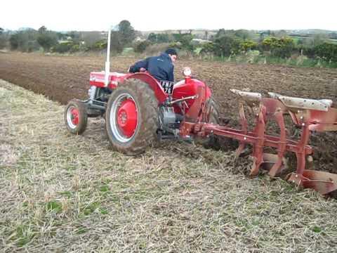 Vintage MF 2 sod plough