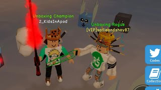 #ViewerTime with SadieAndShay87 We played #ROBLOX Unboxing Simulator by @teamunsquared check her YT!