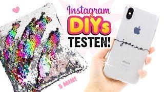 LIVE Test von Instagram DIYs! SCHNELLE GESCHENKE! Virale Handyhüllen selber machen! 2018 German