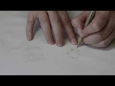 Tracing An Embroidery Pattern To Fabric