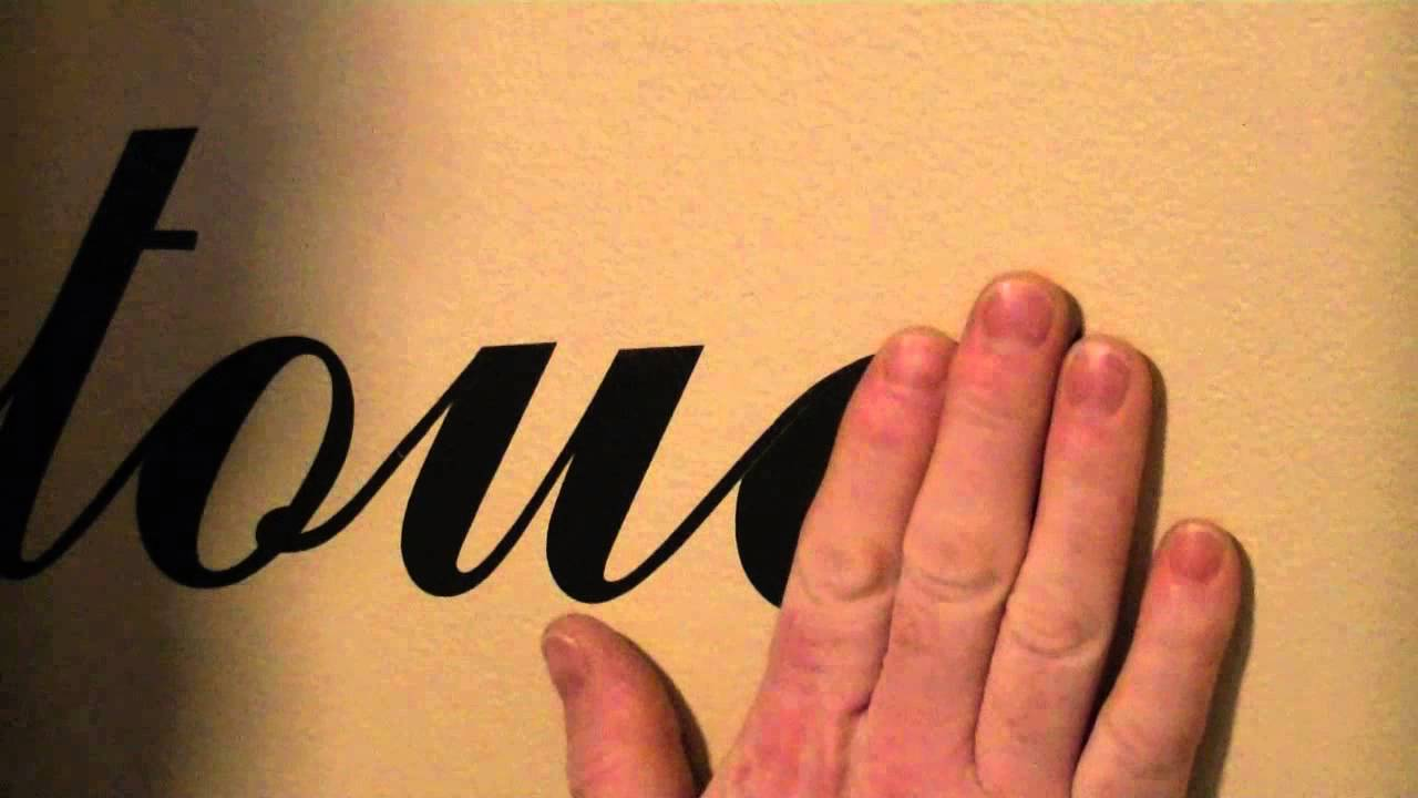 How To Remove Decals And Stickers From Painted Walls YouTube - Custom reusable vinyl wall decals   how to remove