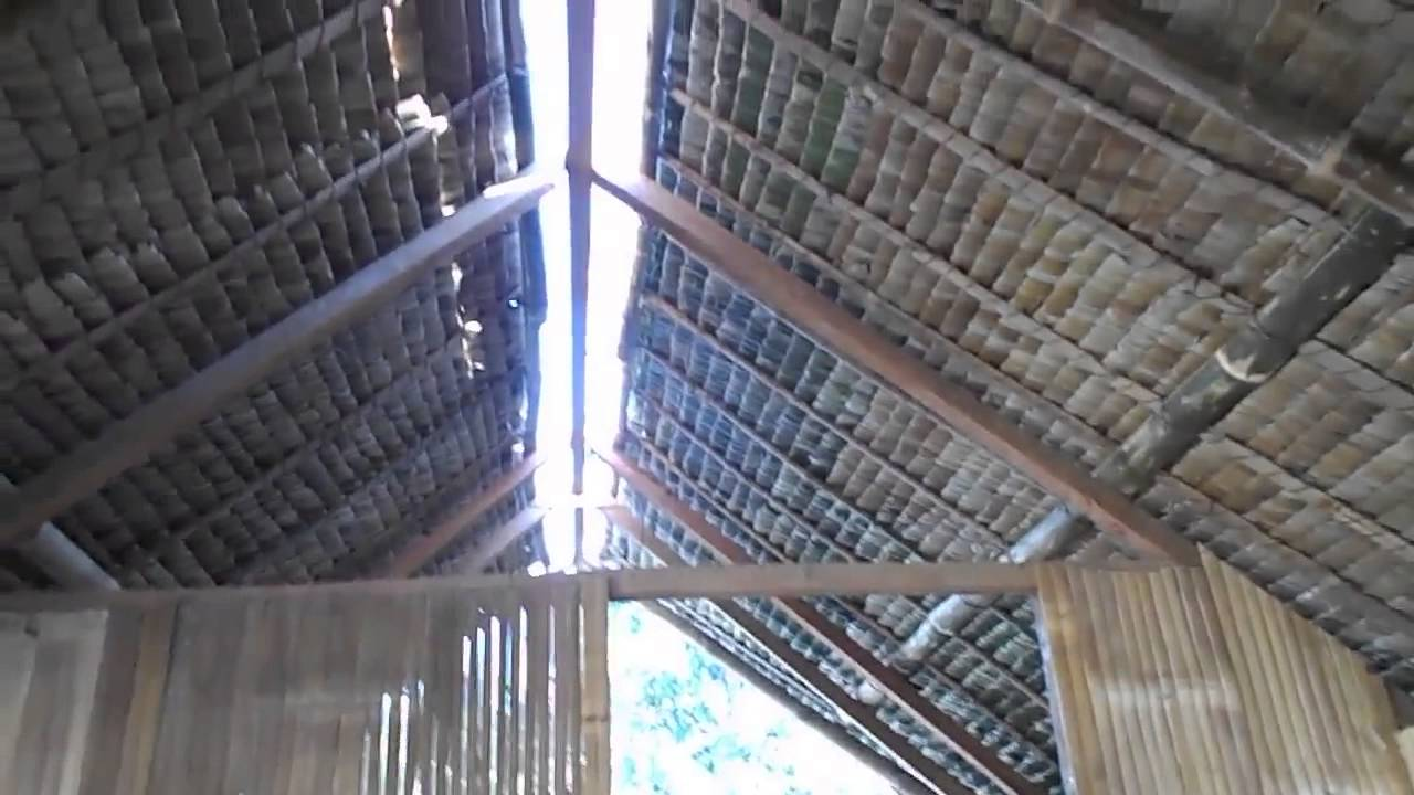 Look Around Inside The Nipa Hut Nearing Completion Bahay