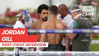 Post-Fight Interview: Jordan Gill beats Reece Bellotti on points at Fight Camp
