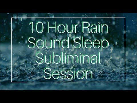 Be Happy & Have Fun - (10 Hour) Rain Sound - Sleep Subliminal - By Thomas Hall
