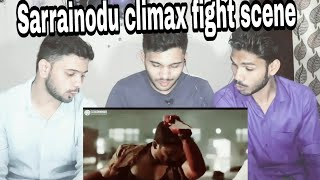 M BROS REACTION on sarrainodu movie climax fight scene | action scene | ALLU ARJUN | 2018