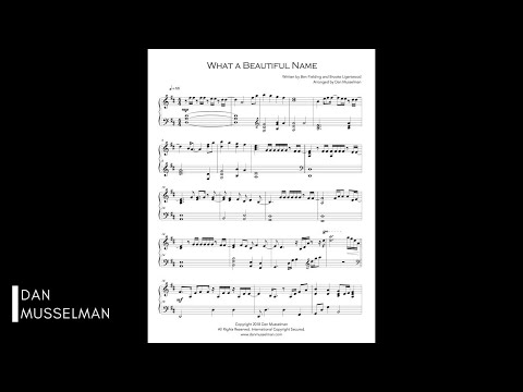 What a Beautiful Name Piano - Simplified Piano Arrangement with Sheet Music