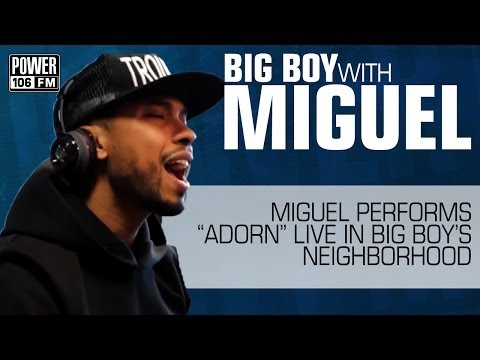 Miguel performs 'Adorn' LIVE in-studio at POWER 106