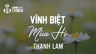 Vĩnh Biệt Mùa Hè - Thanh Lam