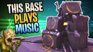 FORTNITE - This BASE Plays STEEL WOOL Band Music! (How To Get Speakers On Your Base)