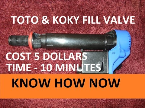 Toilet Fill Valve Repair Korky and Toto