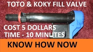Toilet Fill Valve Repair Korky and Toto