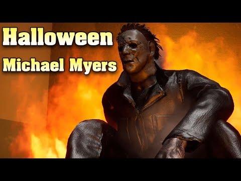 Последняя выжившая против Майкла Майерса из дед бай дейлайт! Halloween The Game Horror