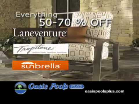 July Blowout!  to % Off All Patio Furniture at Oasis Pools