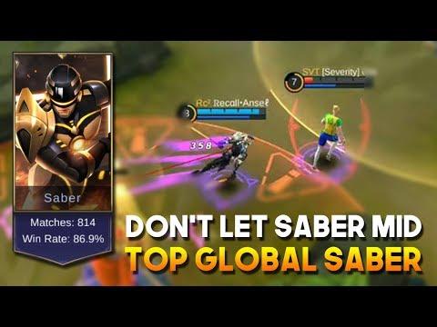 JANGAN KASIH SABER MID Kalau Gk Mau Kayak Gini | Mobile Legends Indo | Recall Ansel Top Global Saber