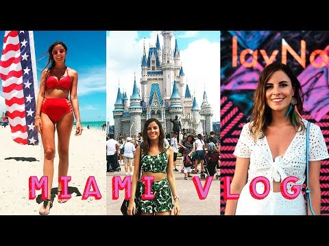 VLOG + LOOKBOOK Miami! [Parte 1: Disney Orlando + Miami Beach] | Wonderland Drawings