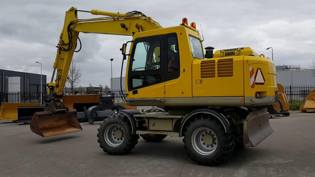 PRIMA Used Equipment: Hyundai Robex 140 W-7 A wheeled excavator