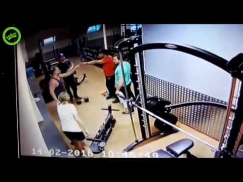 Драка в качалке! the fight in the gym