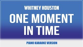 One Moment In Time (Piano Version) KARAOKE - Whitney Houston