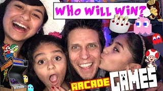 Beating Dad At Video Games - Bad Kids : VLOG IT // GEM Sisters