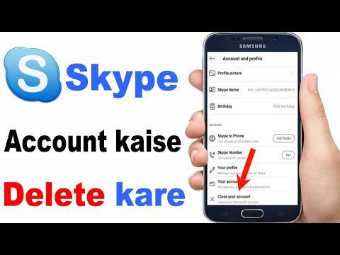 How To Delete Your Skype Account 2020 | Skype Account Kaise Delete Karte Hain |