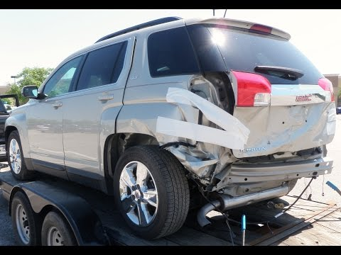 2014 GMC Terrain SLT2 Rear body repair time lapse video after a wreck with before and after pics