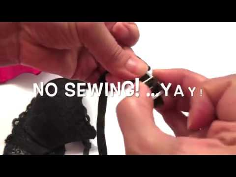 EASY, NO SEWING - DIY Replacement Bra Straps
