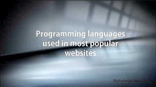 Programming languages used in most popular websites
