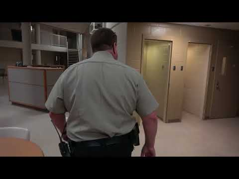 Correctional Officer shift walking