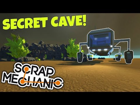 SECRET UNDERWATER CAVE & RESEARCH ROVER! - (Underwater Base EP 9) - Scrap Mechanic Gameplay