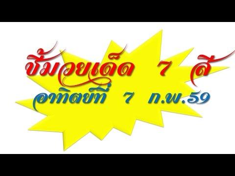 วิจารณ์มวยไทย 7 สีอาทิตย์ที่ 7 ก.พ.59