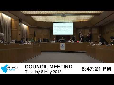 Inner West Ordinary Council Meeting 8 May 2018