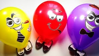 Learn Colors for Children with Funny Balloons Coloring for Kids Learn the Colors
