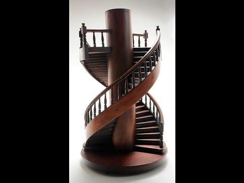 Фото необычных на первый взгляд деревянных лестниц.