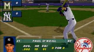 All-Star Baseball 97 Featuring Frank Thomas Saturn Intro + Gameplay